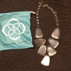 Kendra Scott Slate&Gold Harlow Statement Necklace